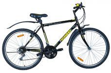 PIONEER Optima, колесо 26, рост 16, черный/желтый/серый